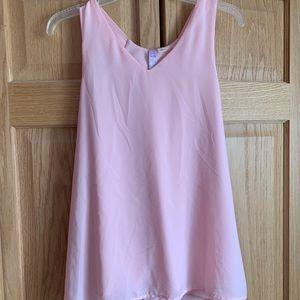 Blush Pink Blouse Tank Top